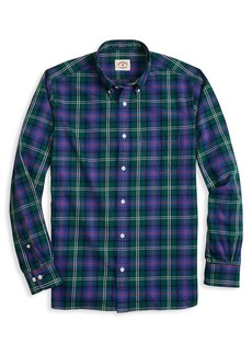 Brooks Brothers Red Fleece Flannel Plaid Button-Down Shirt