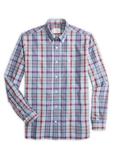 Brooks Brothers Red Fleece Garment-Dye Plaid Button-Down Shirt