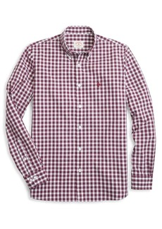 Brooks Brothers Red Fleece Gingham Broadcloth Button-Down Shirt