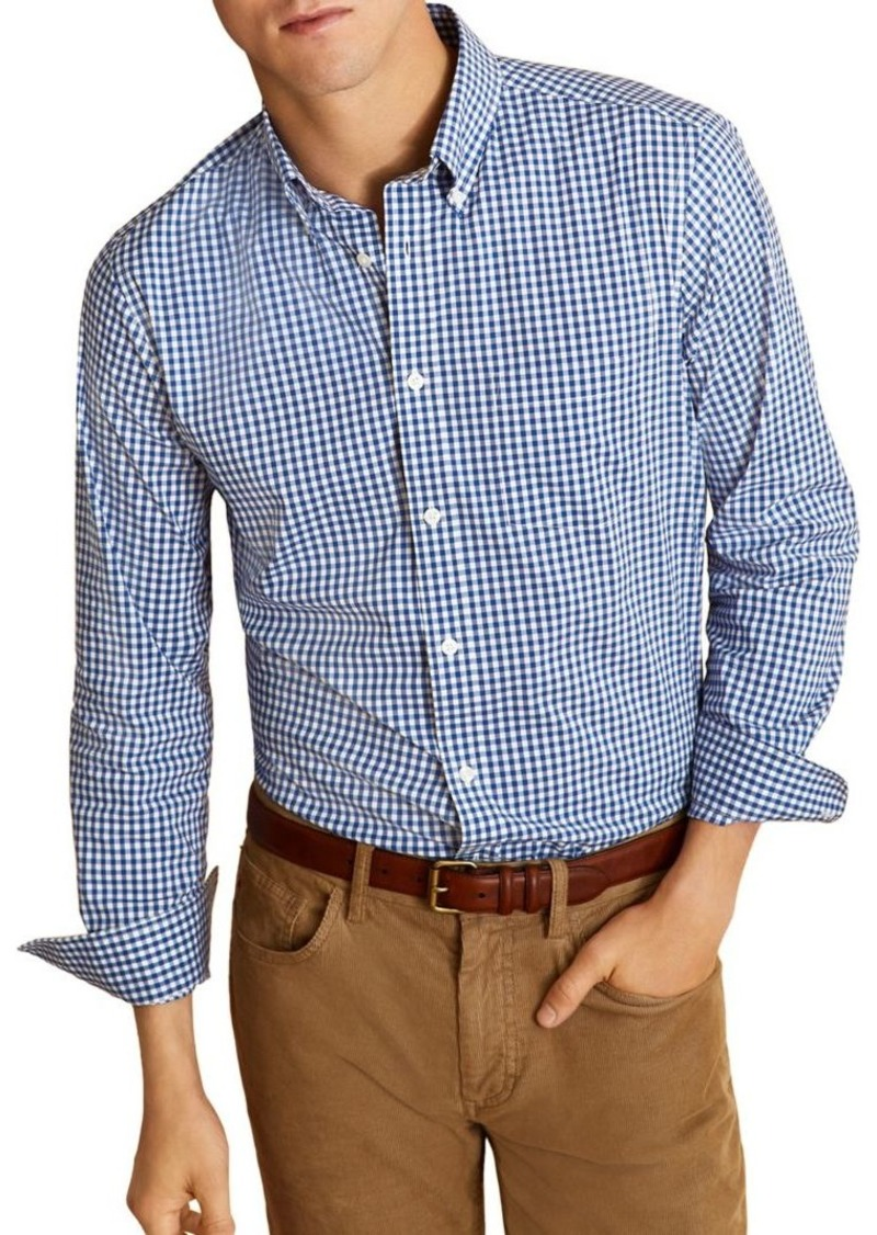 Brooks Brothers Red Fleece Gingham Shirt