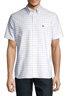 Brooks Brothers Red Fleece Grid Short-Sleeve Oxford Shirt