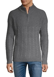 Brooks Brothers Red Fleece Half-Zip Knit Sweater