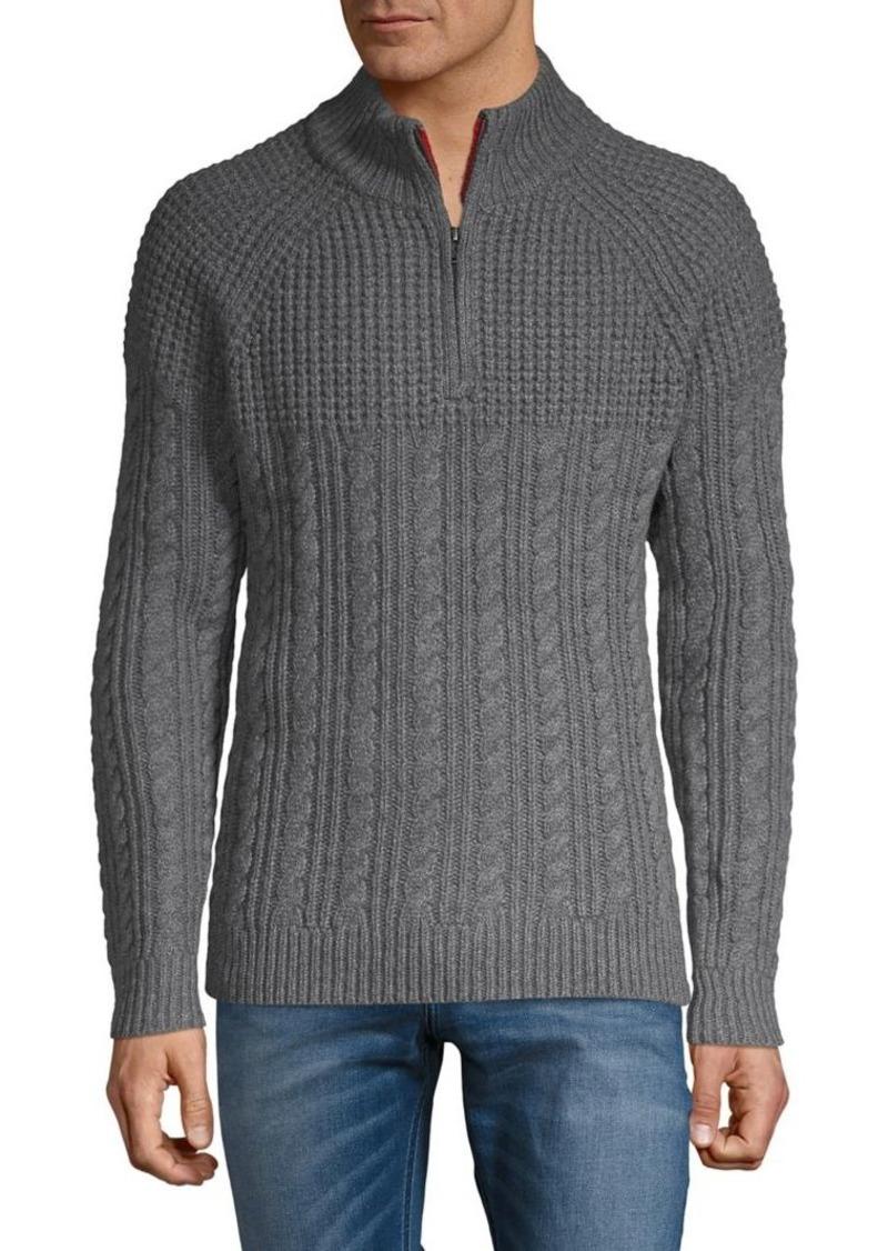 Brooks Brothers Red Fleece Half-Zip Knit Sweater