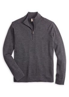 Brooks Brothers Red Fleece Half-Zip Merino Wool Sweater