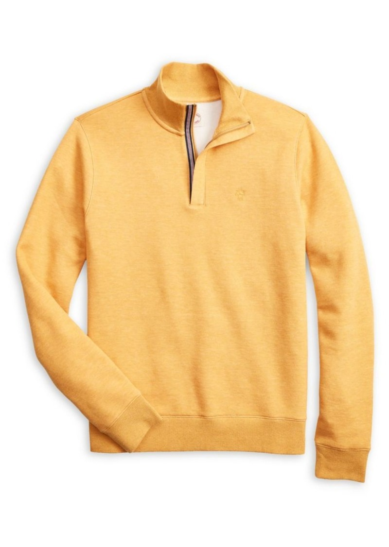 Brooks Brothers Red Fleece Half-Zip Knit Top