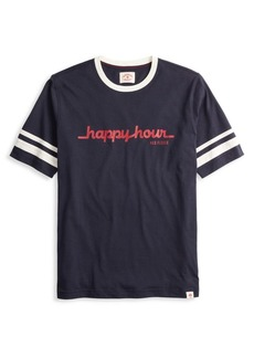 Brooks Brothers Red Fleece Happy Hour Ringer Graphic Tee
