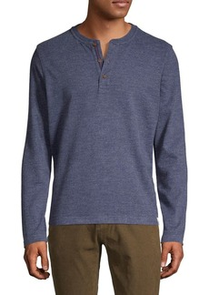 Brooks Brothers Red Fleece Heathered Knit Henley Top