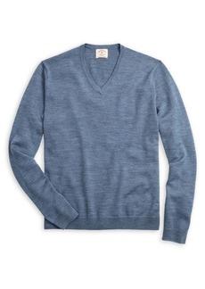 Brooks Brothers Red Fleece Heathered Merino Wool Sweater