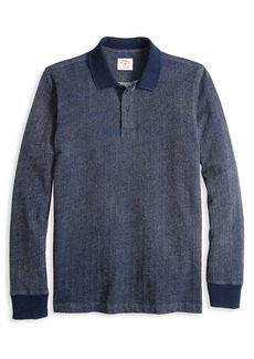 Brooks Brothers Red Fleece Herringbone Cotton Polo