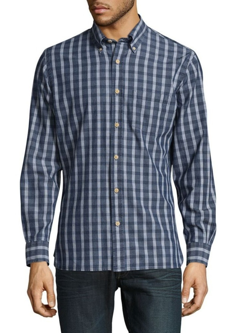 156c2c1d83 Brooks Brothers Red Fleece Gingham Cotton Casual Button-Down Shirt