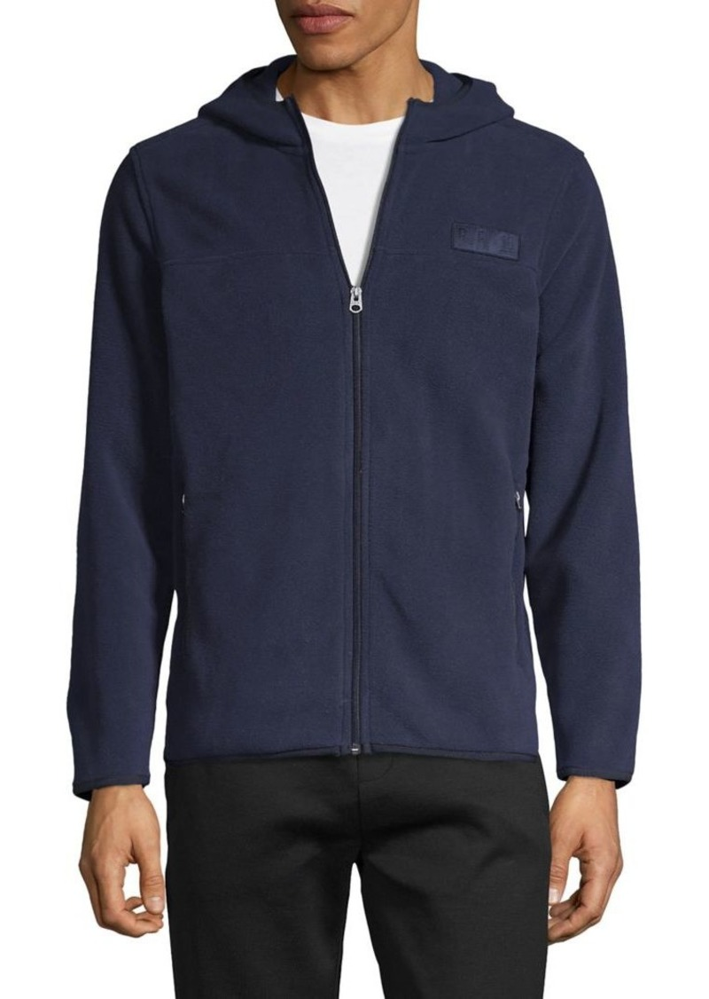 Brooks Brothers Red Fleece Long-Sleeve Zip-Front Hoodie