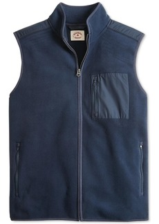 Brooks Brothers Red Fleece Men's Mixed Media Polar Fleece Vest