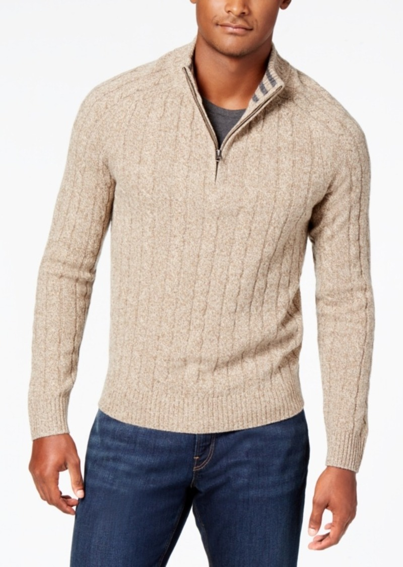 Brooks Brothers Brooks Brothers Red Fleece Men's Quarter-Zip Cable ...