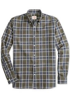 Brooks Brothers Red Fleece Men's Slim-Fit Basketweave Plaid Shirt