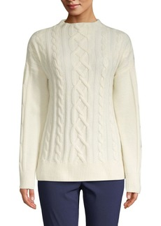 Brooks Brothers Red Fleece Merino-Blend Cable-Knit Sweater