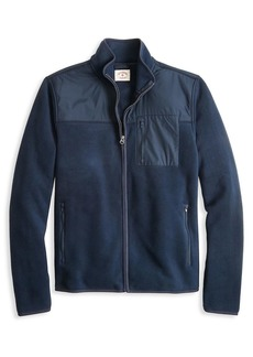 Brooks Brothers Red Fleece Mixed-Media Full-Zip Polar Fleece Jacket