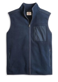 Brooks Brothers Red Fleece Mixed-Media Full-Zip Polar Fleece Vest