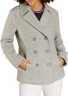 Brooks Brothers Red Fleece Notch Wool-Blend Peacoat
