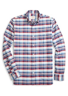 Brooks Brothers Red Fleece Oxford Yarndyes Plaid Button-Down Shirt