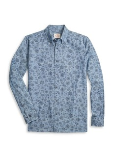 Brooks Brothers Red Fleece Paisley Chambray Cotton Shirt