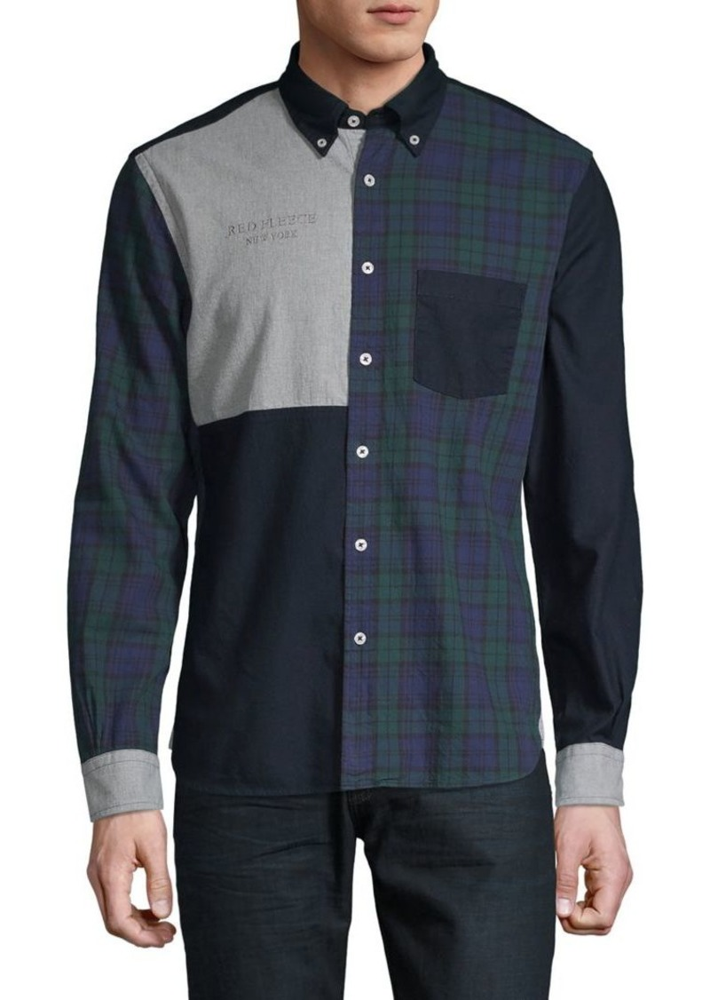 Brooks Brothers Red Fleece Patchwork Long-Sleeve Shirt