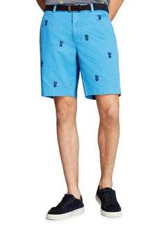 Brooks Brothers Red Fleece Pineapple Embroidered Shorts