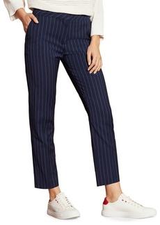 Brooks Brothers Red Fleece Pinstripe Wool-Blend Pants