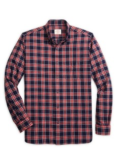 Brooks Brothers Red Fleece Plaid Button Front Shirt