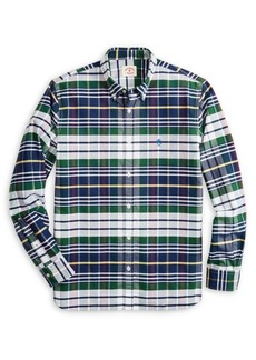 Brooks Brothers Red Fleece Plaid Oxford Sport Shirt