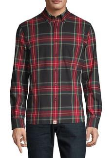 Brooks Brothers Red Fleece Plaid-Print Long-Sleeve Shirt