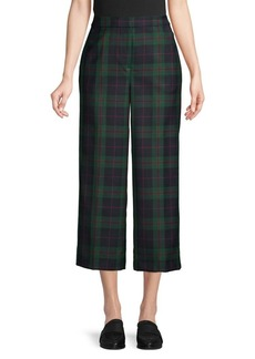 Brooks Brothers Red Fleece Plaid-Print Wool-Blend Pants