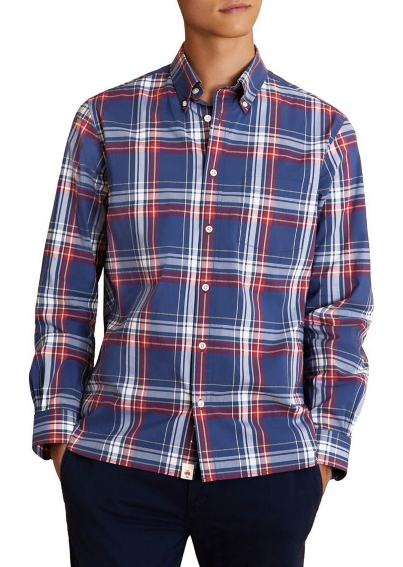 Brooks Brothers Red Fleece Plaid Shirt