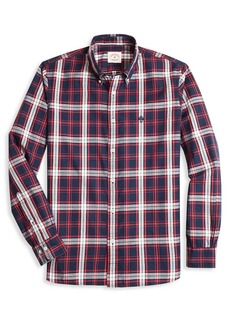 Brooks Brothers Red Fleece Plaid Slim-Fit Button-Down Shirt