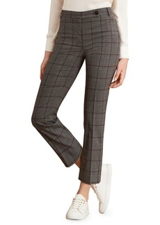 Brooks Brothers Red Fleece Printed Wool-Blend Cropped Trousers