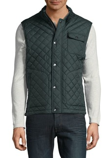 Brooks Brothers Red Fleece Quilted Vest
