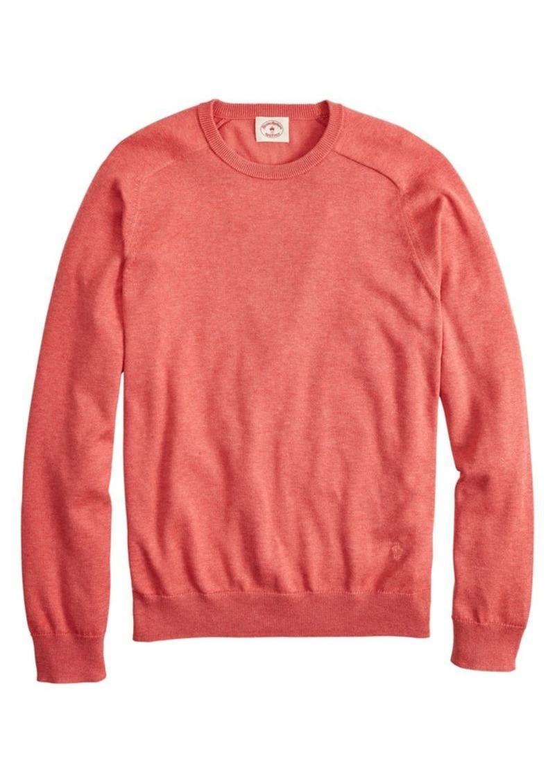Brooks Brothers Red Fleece Raglan-Sleeve Cotton-Blend Sweater