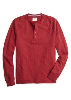 Brooks Brothers Red Fleece Raglan-Sleeve Cotton Henley