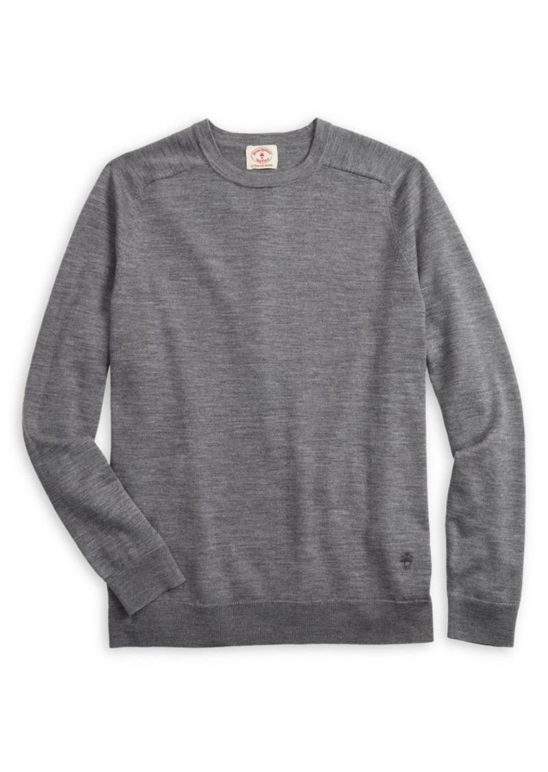 Brooks Brothers Red Fleece Raglan-Sleeve Merino Wool Sweater