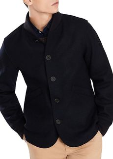 Brooks Brothers Red Fleece Rib-Trimmed Jacket