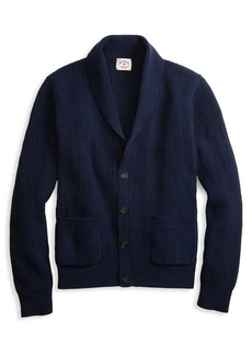 Brooks Brothers Red Fleece Rick Rack Rib Shawl Cardigan