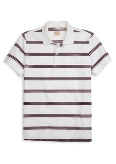 Brooks Brothers Red Fleece Rope Stripe Polo