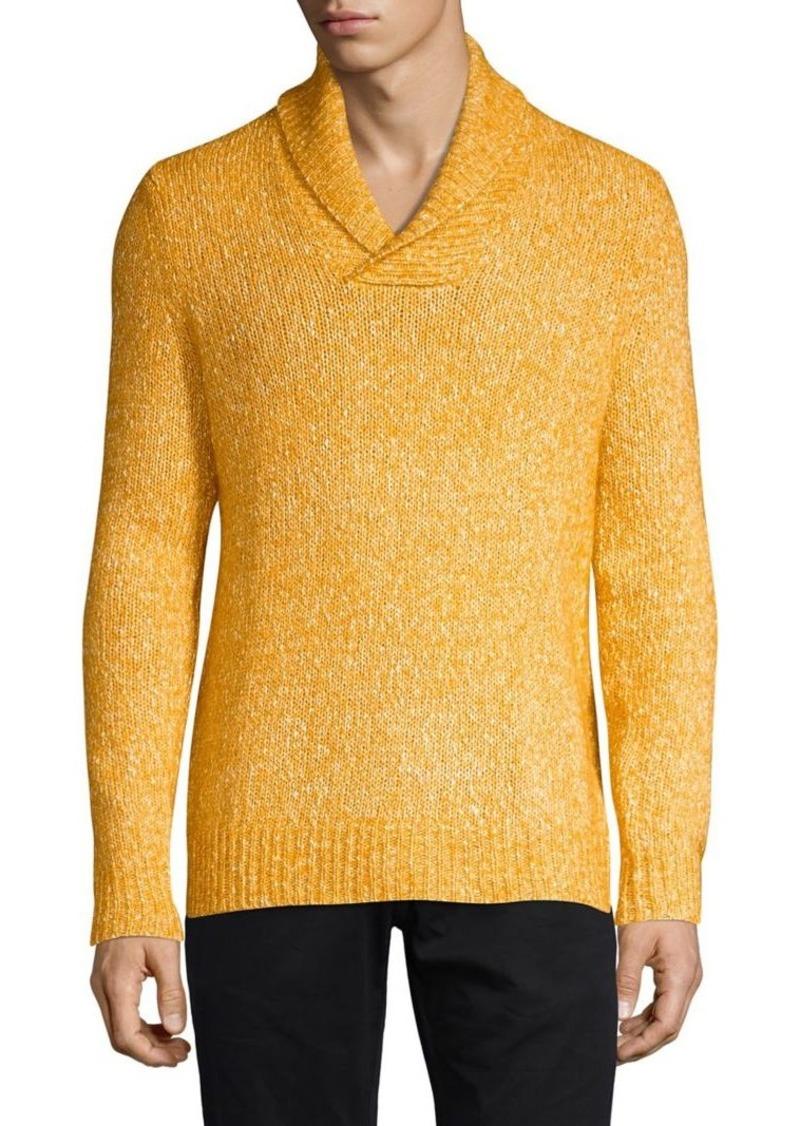 Brooks Brothers Red Fleece Shawl Collar Sweater