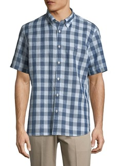 Brooks Brothers Red Fleece Short-Sleeve Checkered Button-Down Shirt