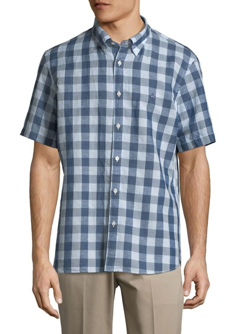 Brooks Brothers Red Fleece Short-Sleeve Checkered Shirt
