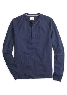 Brooks Brothers Red Fleece Slub Raglan-Sleeve Cotton Henley