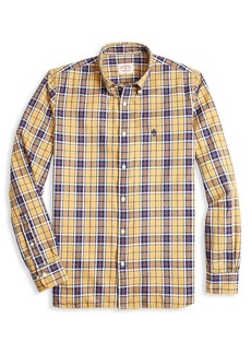 Brooks Brothers Red Fleece Basketweave Plaid Button-Down Shirt