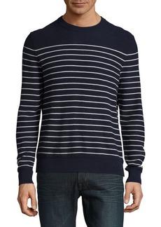 Brooks Brothers Red Fleece Stripe Crewneck Sweater