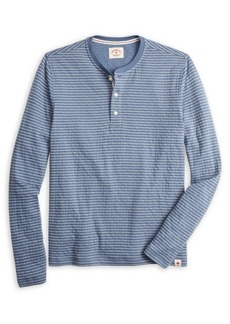 Brooks Brothers Red Fleece Striped Cotton-Blend Henley