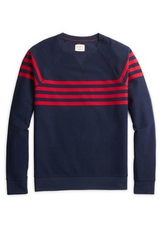 Brooks Brothers Red Fleece Striped Pullover