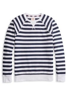 Brooks Brothers Red Fleece Striped Reversed French Terry Sweatshirt